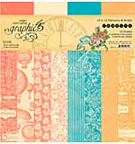 Graphic 45 Imagine - Patterns and Solids Double-Sided Paper Pad 12x12 (16pk)