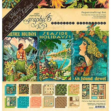 SO: Graphic 45 Tropical Travelogue - Deluxe Collector\'s Edition Pack 12x12