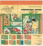 SO: Graphic 45 Double-Sided Paper Pad 8X8 24pk - Christmas Magic, 8 Designs