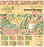SO: Graphic 45 Double-Sided Paper Pad 8X8 24pk - Garden Goddess, 8 Designs