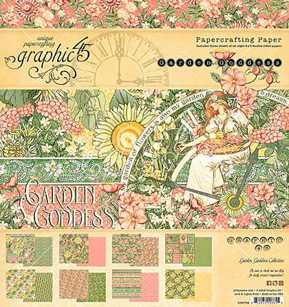 Graphic 45 Double-Sided Paper Pad 8X8 24pk - Garden Goddess, 8 Designs