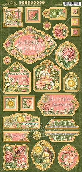 SO: Garden Goddess Chipboard Die-Cuts 6X12 Sheet - Decorative and Journaling