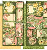 Garden Goddess Cardstock Die-Cuts 6X12 Sheets 2pk - Tags and Pockets