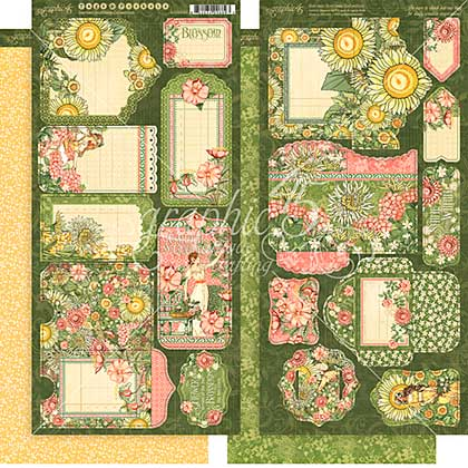 SO: Garden Goddess Cardstock Die-Cuts 6X12 Sheets 2pk - Tags and Pockets