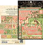 Graphic 45 Garden Goddess Ephemera Cards 32pk - 4x6 and 3x4