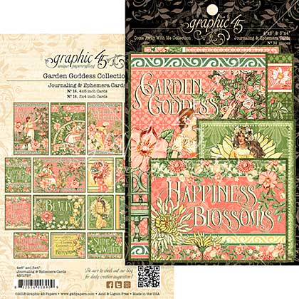 Garden Goddess Ephemera Cards 32pk - 4x6 and 3x4
