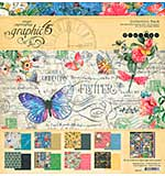 Graphic 45 Collection Pack 12X12 - Flutter
