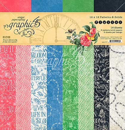 SO: Graphic 45 Double-Sided Paper Pad 12X12 16pk - Flutter, 8 Designs