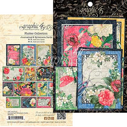 Flutter Ephemera Cards 32pk - 4x6 and 3x4