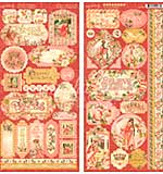Graphic 45 Princess Cardstock Stickers 12x12