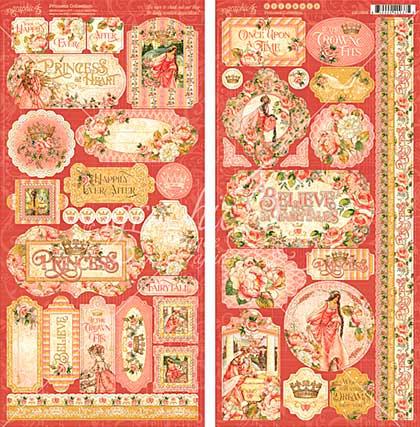 Graphic 45 Princess Cardstock Stickers 12x12