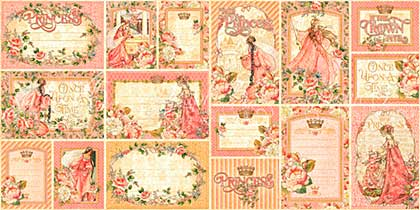 SO: Graphic 45 Princess Ephemera Cards - (16) 4x6 and (16) 3x4