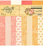 Graphic 45 Princess Patterns and Solids - Double-Sided Paper Pad 12x12 16pk (8 Designs)