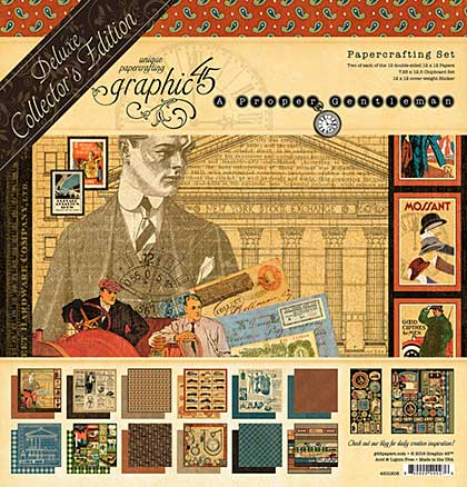 Graphic 45 A Proper Gentleman - Deluxe Collectors Edition Pack 12x12