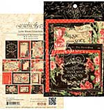 Graphic 45 Love Notes Ephemera Cards - (16) 4x6 and (16) 3x4