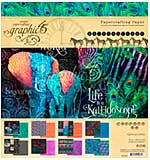 SO: Graphic 45 Kaleidoscope Double-Sided Paper Pad 8x8 24pk (8 Designs 3 Each)