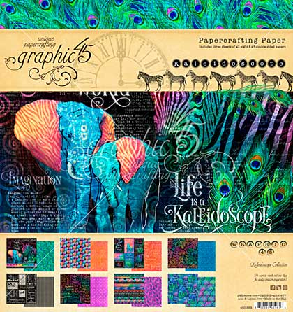 Graphic 45 Kaleidoscope Double-Sided Paper Pad 8x8 24pk (8 Designs 3 Each)