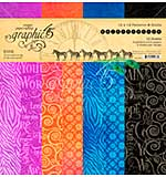 SO: Graphic 45 Kaleidoscope Double-Sided Paper Pad 12X12 16pk (8 Designs 2 Each)