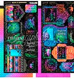 SO: Graphic 45 Kaleidoscope Cardstock Die-Cuts 6x12 Sheets 2pk - Tags and Pockets