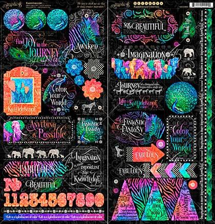 Graphic 45 Kaleidoscope Cardstock Stickers 12x12