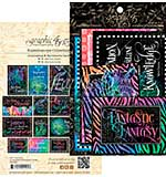 SO: Graphic 45 Kaleidoscope Ephemera Cards - (16) 4x6 and (16) 3x4