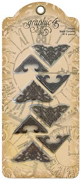 SO: Graphic 45 Staples Ornate Metal Corners