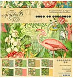 Graphic 45 Lost In Paradise Double-Sided Paper Pad 8x8 24pk (8 Designs 3 Each)