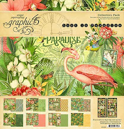 SO: Graphic 45 Lost In Paradise Collection Pack 12x12