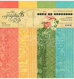 Graphic 45 Lost In Paradise Double-Sided Paper Pad 12x12 16pk (8 Designs 2 Each)