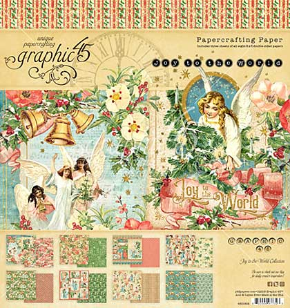 SO: Graphic 45 Joy To The World - 8x8 Double-Sided Paper Pad 24pk (8 Designs, 3 Each)