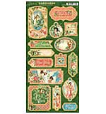 SO: Graphic 45 Joy To The World - 6x12 Decorative and Journaling Chipboard Die-Cuts Sheet