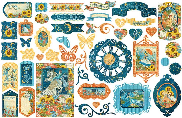 PRE: Graphic 45 Dreamland - Cardstock Die-Cut Assortment (NEW)
