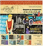 PRE: Graphic 45 Lifes a Journey - 8x8 Double-Sided Paper Pad 24pk (8 Designs, 3 Each)