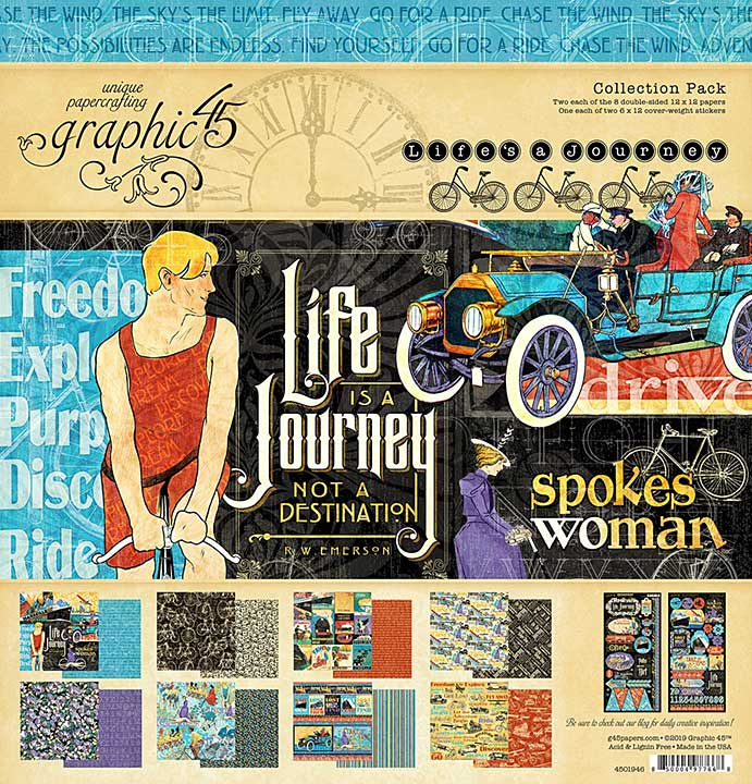 Graphic 45 Lifes a Journey - 12x12 Collection Pack