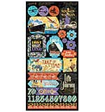 PRE: Graphic 45 Lifes a Journey - 6x12 Cardstock Stickers (2pcs)