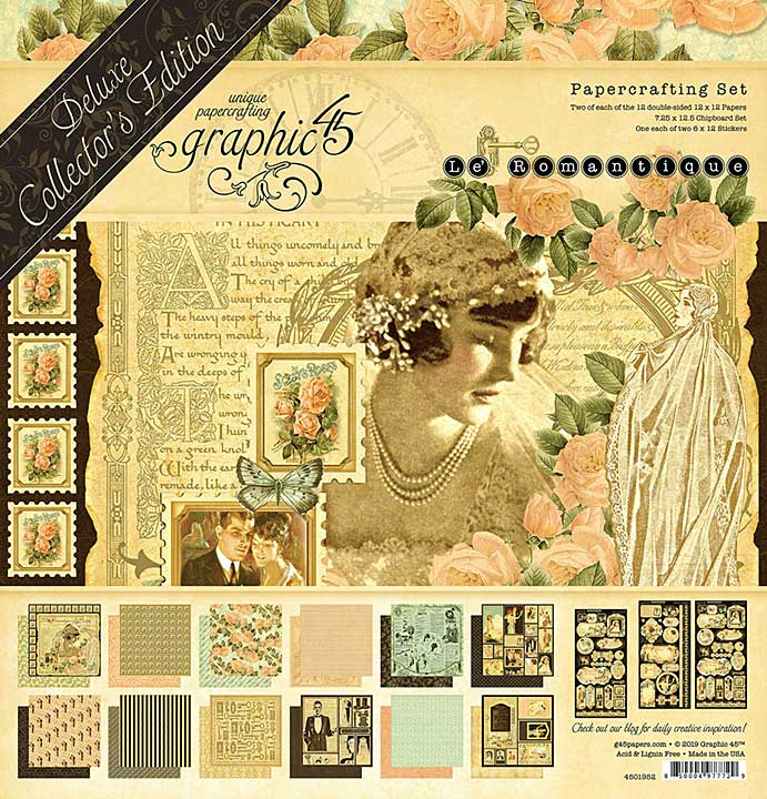 SO: PRE: Graphic 45 Le Romantique - Deluxe Collectors Edition Pack 12x12
