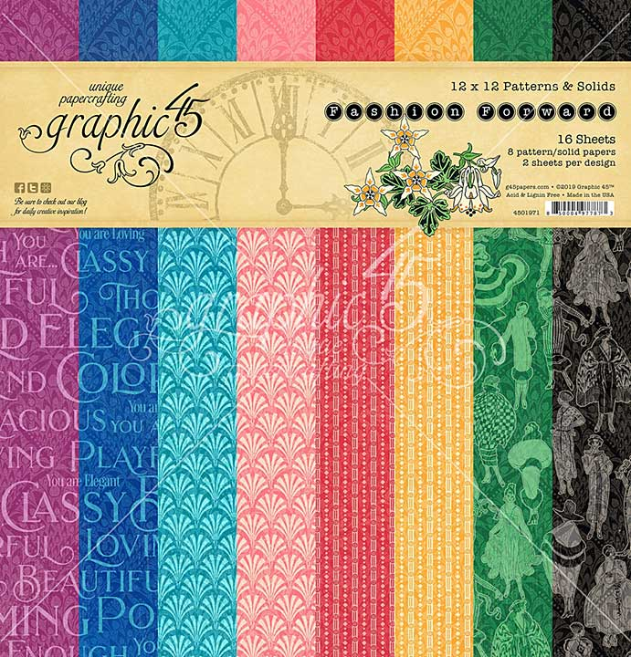 SO: Graphic 45 Fashion Forward - 12x12 Double-Sided Paper Pad 16pk