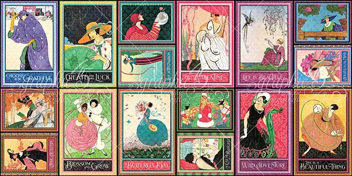 Graphic 45 Fashion Forward - Ephemera Cards - (16) 4x6 and (16) 3x4