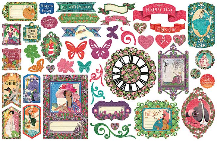 Graphic 45 Fashion Forward - Cardstock Die-Cut Assortment