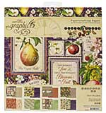 SO: Graphic 45 Fruit and Flora - 8x8 Double-Sided Paper Pad 24pk