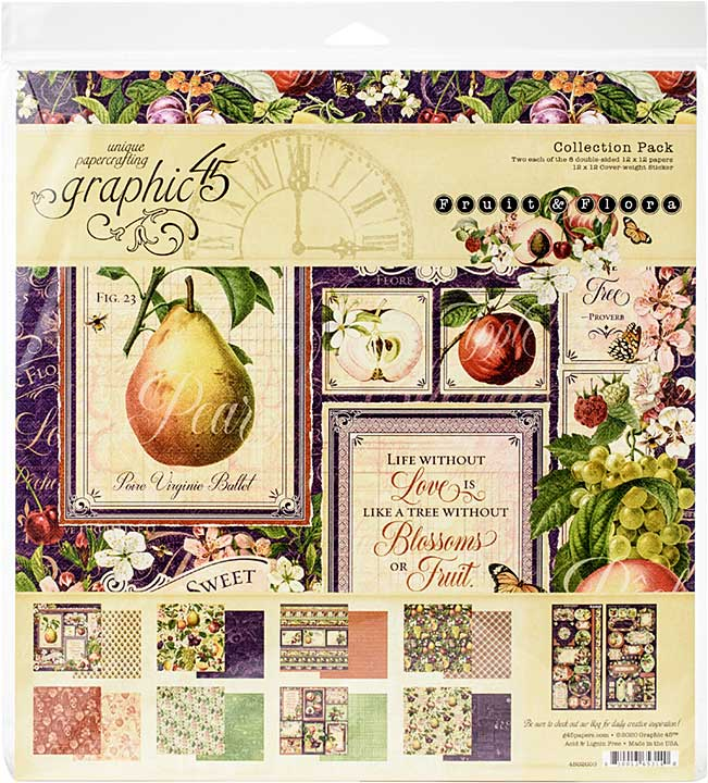 Graphic 45 Fruit and Flora - 12x12 Collection Pack