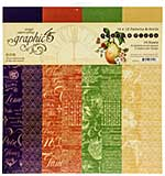Graphic 45 Fruit and Flora - 12x12 Double-Sided Paper Pad 16pk