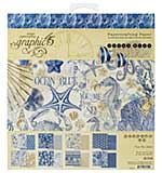 SO: Graphic 45 Ocean Blue - 8x8 Double-Sided Paper Pad 24pk