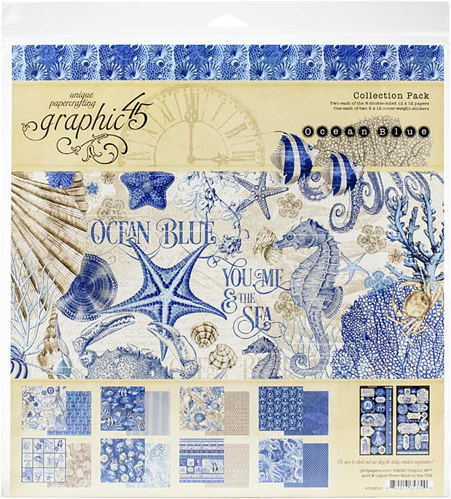 Graphic 45 Ocean Blue - 12x12 Collection Pack