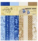 SO: Graphic 45 Ocean Blue - 12x12 Double-Sided Paper Pad 16pk