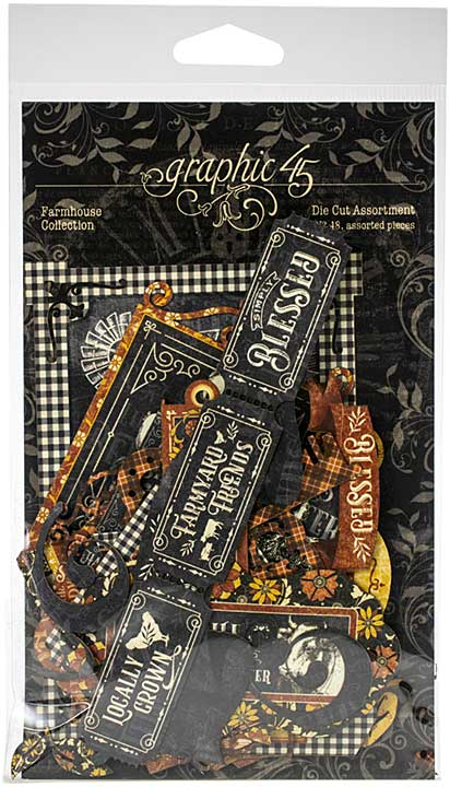 SO: Graphic 45 Farmhouse - Cardstock Die-Cut Assortment