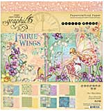 SO: Graphic 45 Fairie Wings - 8x8 Double-Sided Paper Pad, 24pk