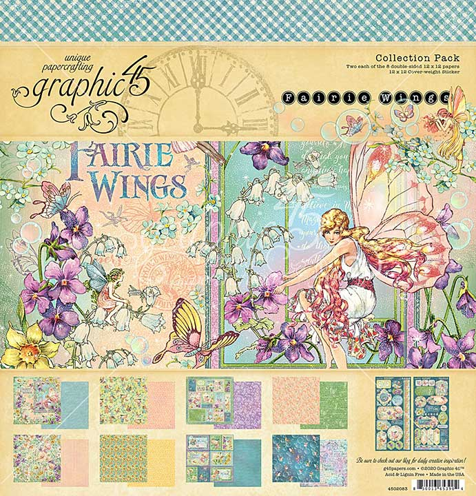Graphic 45 Fairie Wings - 12 x 12 Collection Pack