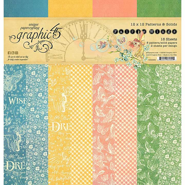 Graphic 45 Fairie Wings - 12 x 12 Double-Sided Paper Pad, 16pk
