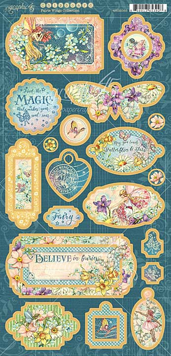 Graphic 45 Fairie Wings - 6x12 Chipboard Die-Cuts Sheet